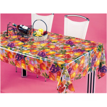New Design Vinyl Material PVC Printed Transparent Tablecloth