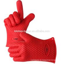 Heißer Verkauf haltbarer hitzebeständiger Nahrungsmittelgrad Grillender Grill-Ofen-Handschuh / Silikon-Grill-Ofen BBQ-Handschuh / Ofen Mitt
