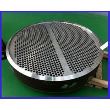 Placa de tubo de acero inoxidable personalizada para intercambio de calor