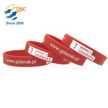 Le bracelet le moins cher de bracelet de silicone Accessoires imprimés par coutume