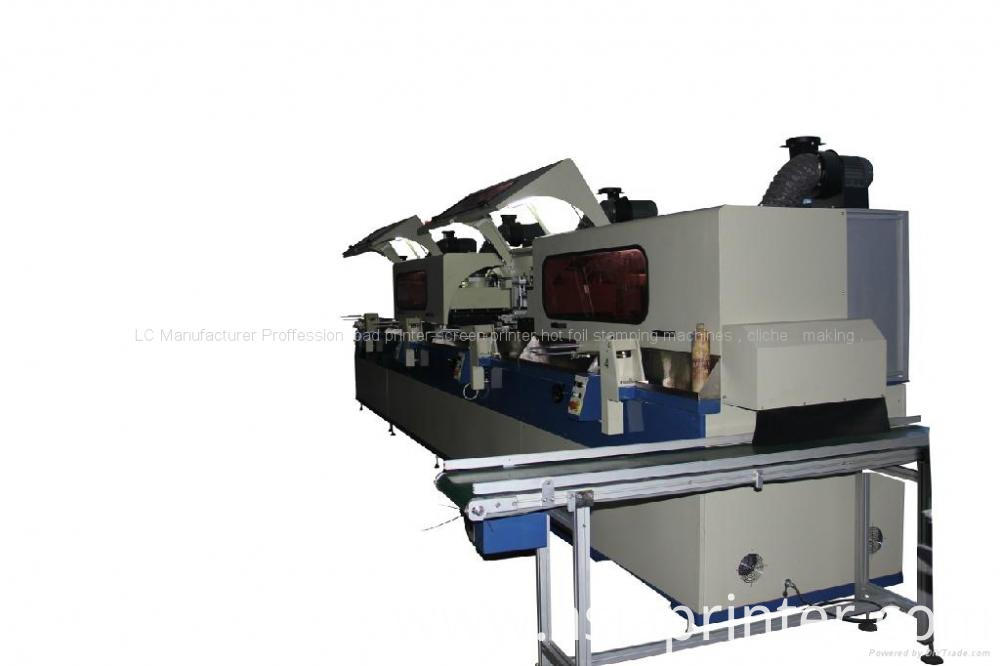 Automatic Cylindrical Screen Printer For Bottles