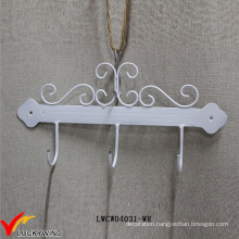 Scroll Rustic Wall Mounted White Coat Hook