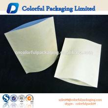 Round Corner O Common Kraft paper / Al / PE packaging Estuche para café u otros