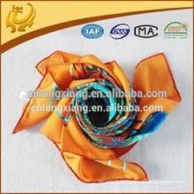 100% Seide gedruckter Designer-Marken-Twill-Silk Schal