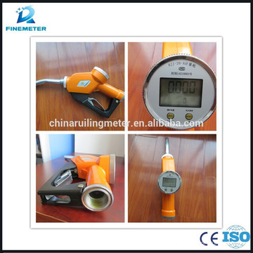 fuel gun for petro with flow meter
