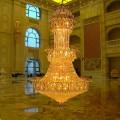 Cristal gran tamaño candelabro escaleras arañas