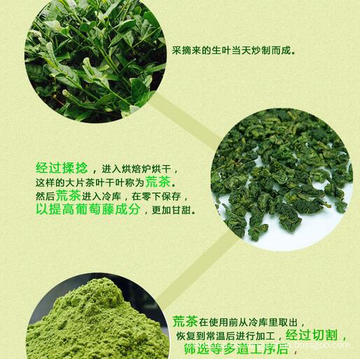 Polvo de té verde Guanyin Matcha de lazo