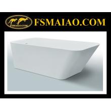 Baignoire autoportante de rectangle de surface solide (BS8634)