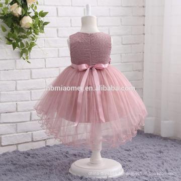 2017 nouvelle mode coloré partie occidentale porter robe sans manches lacé 2 ans fille robe pour la fête de mariage