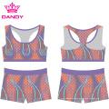 Custom Printing Sublimated Cheerleading Practice Wear