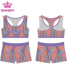 Impressão Personalizada Sublimada Cheerleading Practice Wear