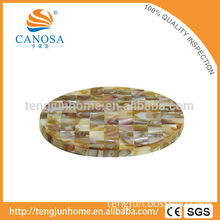 CBM-CS03 Eco friendly triangle mussel shell cup coaster