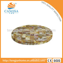 CBM-CS03 Eco friendly triangle mussel shell cup coaster