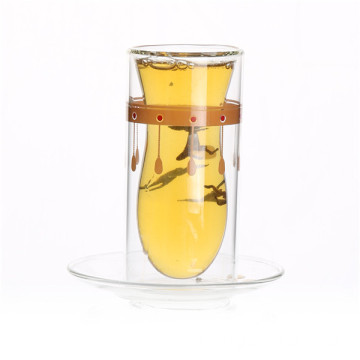 Glass Tea Set with Glass Holder