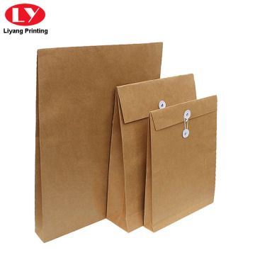Kraft Paper Envelope String Close para Documentos