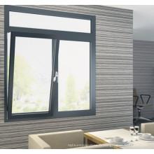 Chine Fenêtre d'inclinaison et de rotation en aluminium à double vitrage de qualité supérieure