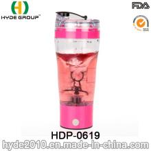 Botella plástica portátil del mezclador de la proteína del vórtice 500ml, botella eléctrica plástica de la coctelera de la proteína (HDP-0619)