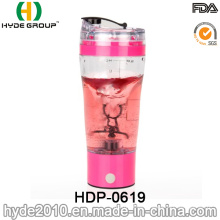500ml Portable Plastic Vortex Protein Mixer Bottle, Plastic Electric Protein Shaker Bottle (HDP-0619)