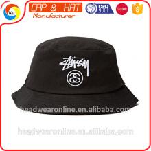 Kundenspezifischer Art- und Weisequalitäts-Stickerei-Wannen-Hut von 100% Baumwolle