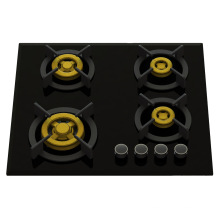 Supreme 4 Brass Burner Gas Stove (8mm Glass)