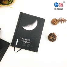 A6 Vintage New Tear Black Cardboard Hard Book Notebook pour Paiting Dessin Journal Journal Creative Gift