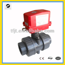 AC220V Wasser system kunststoff pvc motorisierte kunststoffkugelventil für automatische steuerung, wasseraufbereitung