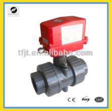 Robinet à tournant sphérique motorisé en plastique de PVC de système de l'eau AC220V en plastique pour le contrôle automatique, traitement de l'eau