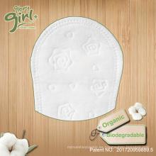 Etiqueta privada femenina de la rejilla del algodón orgánico al por mayor respirable biodegradable de la parte posterior
