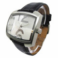 Stainless Steel Watch with Square Face