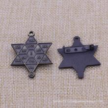 Штырь отворотом шестерни промотирования Pin шестиугольной звезды античный для сбывания