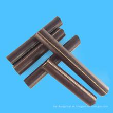 Varilla laminada de algodón de resina fenólica marrón