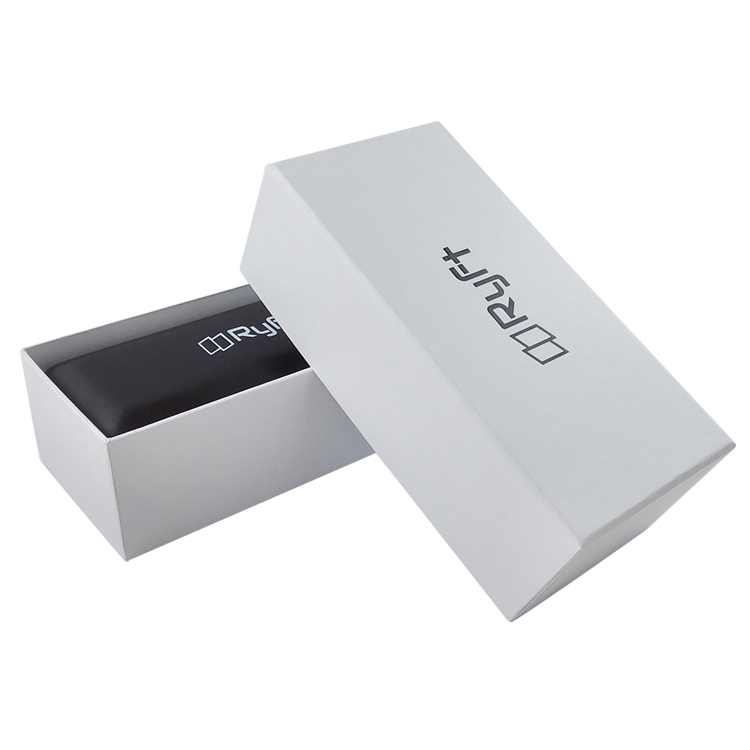 White glasses embossing paper two pieces box