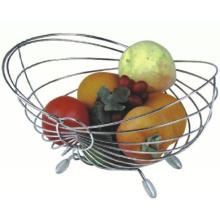 Cesta da rede de arame de metal / cesta de fruto da rede de arame do fruto