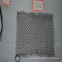 1.2mm stainless steel chainmail scrubber/stainless steel scourer/metal chainmail mesh