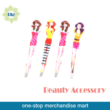 Many Styles Fashion Girls Printing Eyebrow Tweezers Set