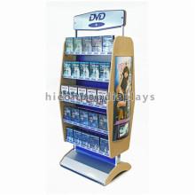 Бесплатные Аудио дизайн продуктов розничного магазина двойной, котор встали на сторону Дисплей этаж 5 уровня металла утюга компакт-дисков и DVD для одежды
