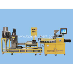 Lab twin screw extrusion water ring pelletizing line