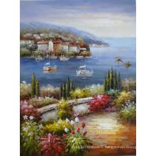 Peinture à l'huile de la Méditerranée