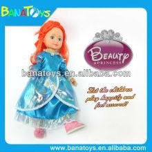 Bonito 14 polegadas brinquedo plástico princesa princesa