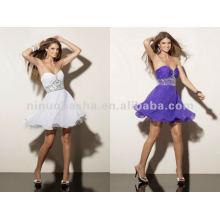NY-2370 Vestido de quinceanera em chiffon com contas