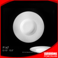 chaozhou factory wholesale ceramic porcelain hotel soup plate