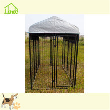 Outdoor large metal dog kennels with uv proof cover