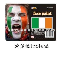 флаг лицо краской(Ирландия),карнавал лицо краской