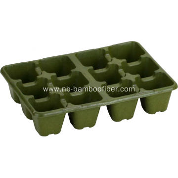 12 Hole high foot bamboo fiber seedling pots