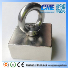 N50 Large Square Hook NdFeB Magnetic Assembly Pot Magnets