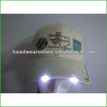 Chapéus de LED Chapéus de LED Chapéu de luz LED com bordado
