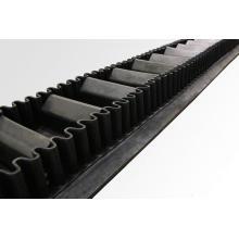 Banda transportadora de pared lateral corrugada