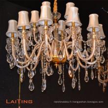 Lustre en cristal traditionnel mené européen de cristal de restaurant LT-85367