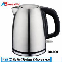 Anbolife Novo design 2018 Venda quente Amazon 1.7L chaleira elétrica de aço inoxidável de fervura rápida chá café cafeteira fervura proteção contra fritura