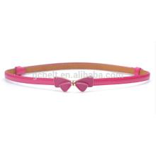 Les enfants Fashion bow buckle skinny PU taille ceinture